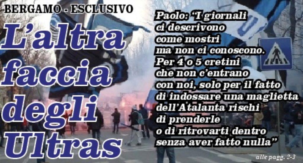 Ultra' Un Nord Bergamo Gli Parla Siamo Noi Esclusivo Della Curva lcJ1TFK