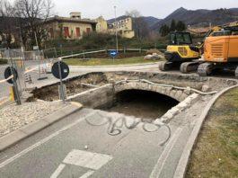 RANICA - Copertura della Roggia Serio, lavori alla rotonda ...